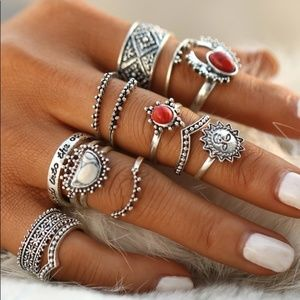 Jewelry - NEW  Brillliant And Sassy Set of Boho Rings!